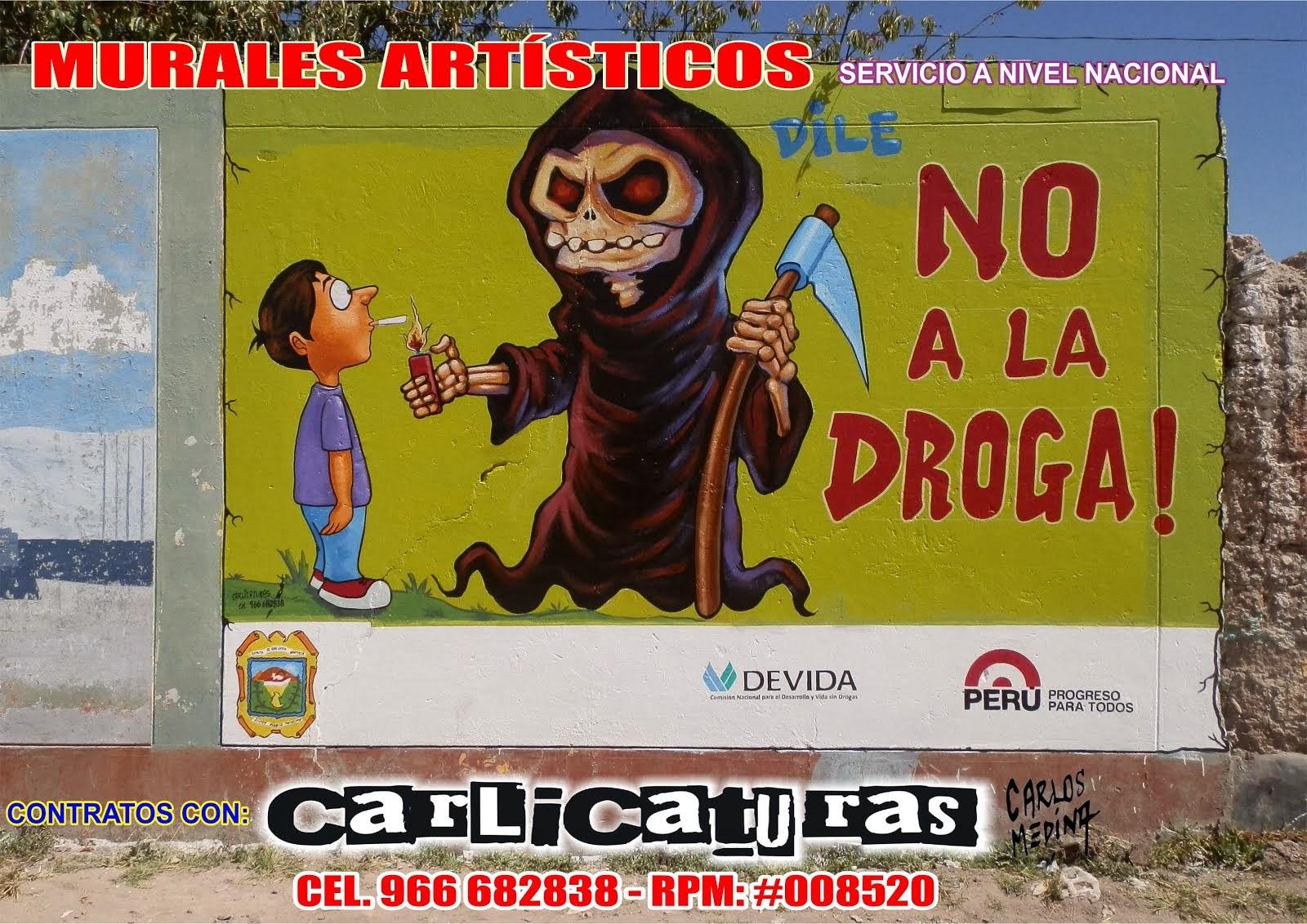 PINTURA MURAL ARTÍSTICO NO A LAS DROGAS