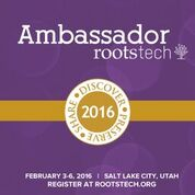 The Genealogy Kids website is proud to be a Rootstech 2016 Ambassador