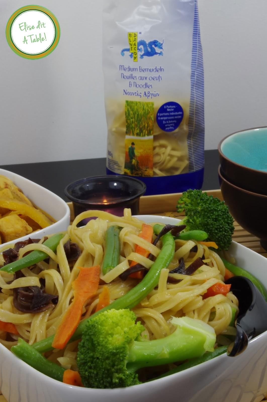 Poulet à l'ananas, et noodles aux petits légumes!