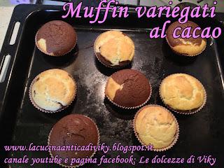 muffin variegati al cacao