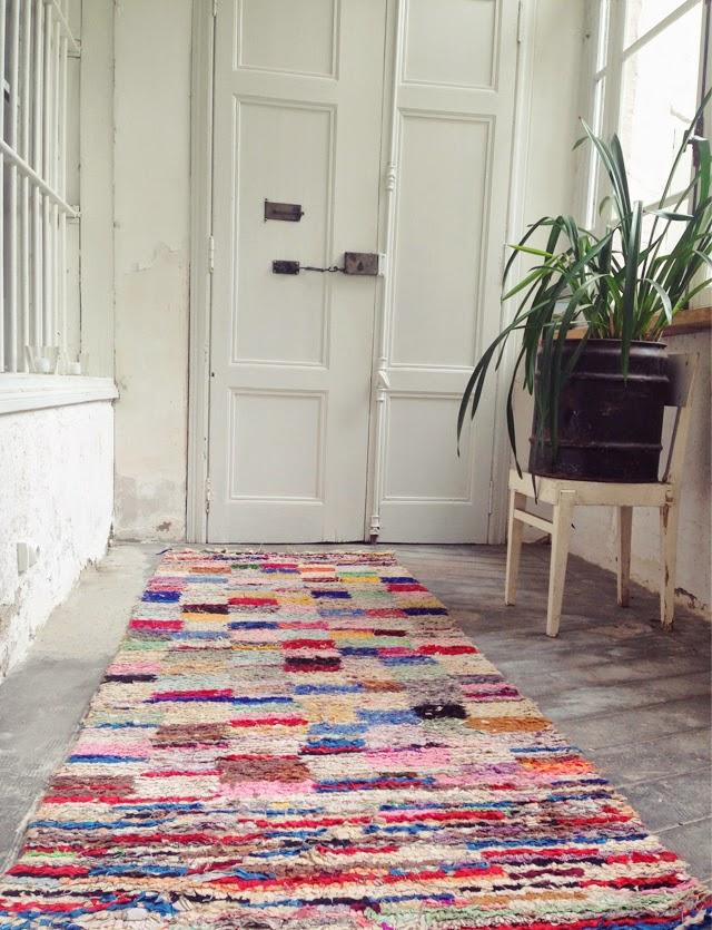 tapis de couloir boucherouite vintage ©lovmint