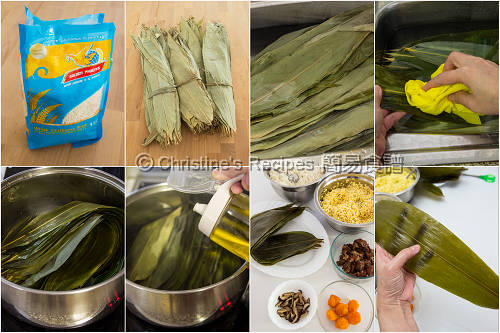 鹹肉粽材料圖 Ingredients of Rice Dumplings