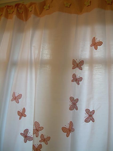 Cortinas De Baño Rosa:Decoración: toallas y cortinas de baño bordadas y en patchworck