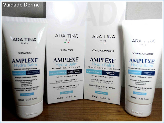 Shampoo e Condicionador Amplexe Hydra Balm da Ada Tina