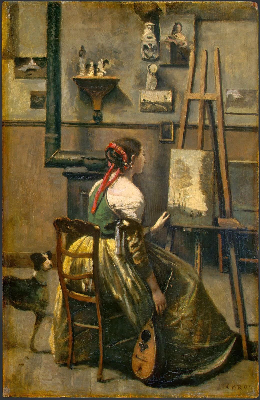 L'atelier de Corot, ca. 1868