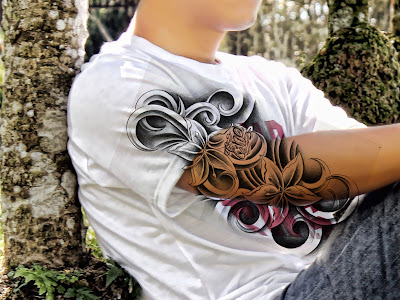 tato3+ Membuat Tato warna hitam dengan photoshop
