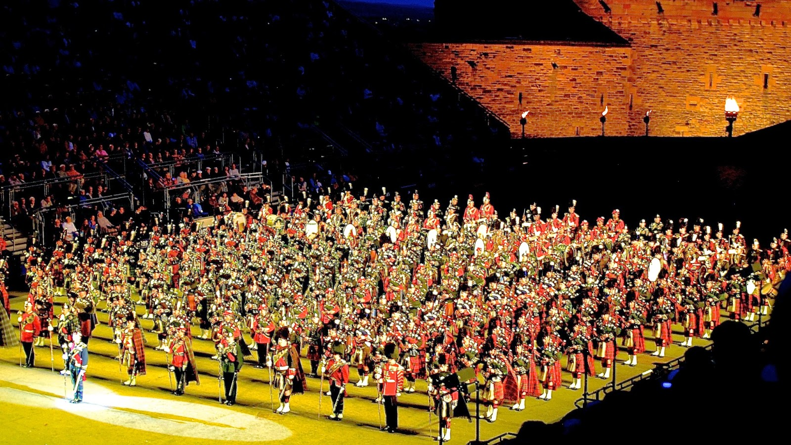 Massed pipe bands; Royal Edinburgh Military Tattoo