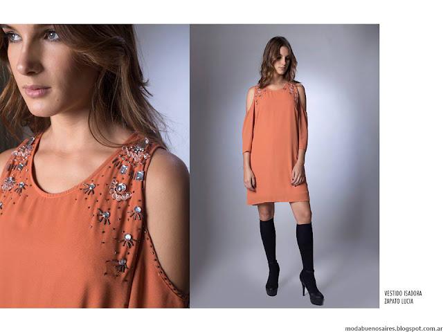 Vestidos cortos La Cofradía otoño invierno 2016. Moda invierno 2016.