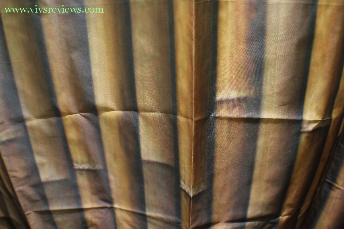 Bamboo shower curtain - I Am Hoping That The Manufacturer Can Improve The Printing Of This Shower Curtain Because I Have No Problem With The Quality Of The Fabric