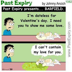 [CARTOON] Feel the Love. cartoon, animals, Barfield, cats, relationships, Valentines,