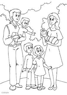 Desenho como desenhar Familias felizes e alegres pintar e colorir