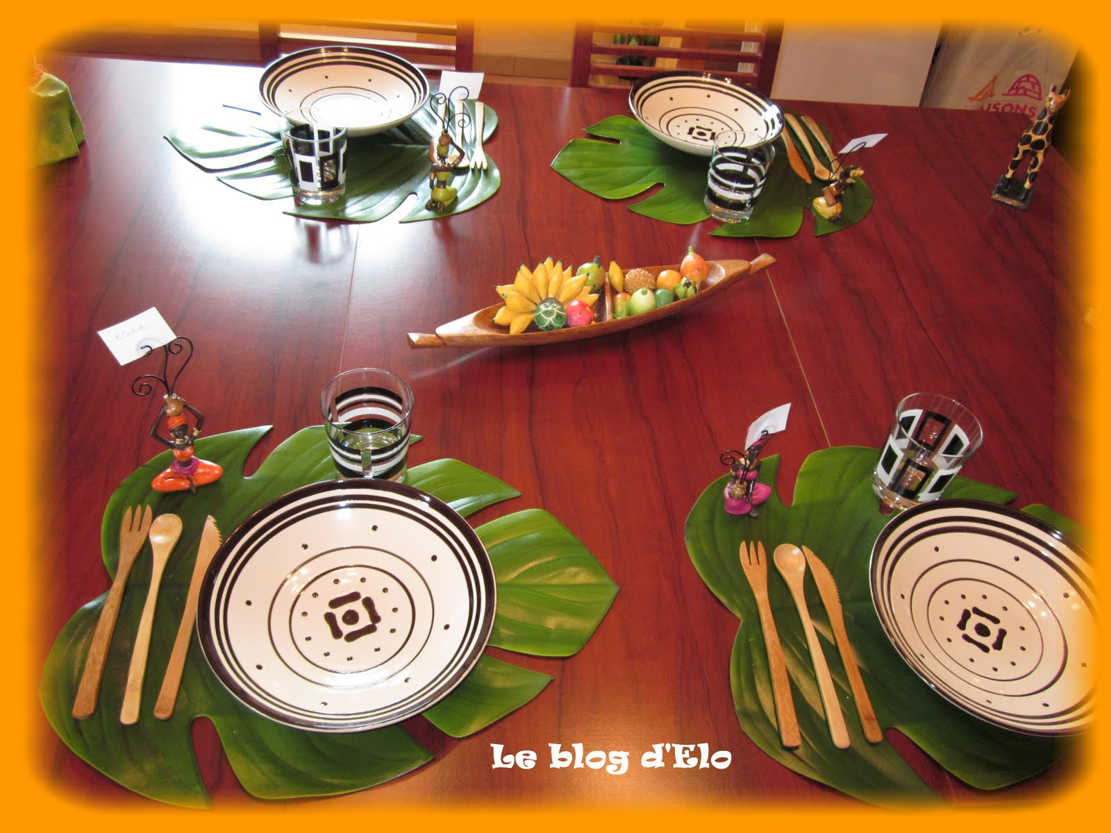 Le blog d 39 elo d co de table africaine for Photos de decoration eclectique ethnique chics