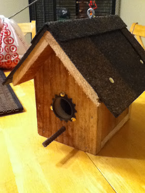 Bicycle parts Bird house