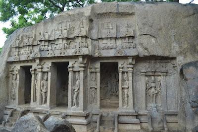 trimurthi temple, mahabalipuram