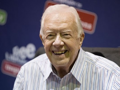 Jimmy Carter Suffers Brain Cancer with Strong Show of Courage