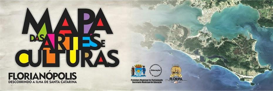 Mapa das Artes e Culturas de Florianópolis
