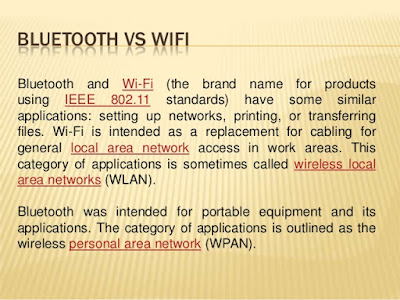 Bluetooth vs. WiFi