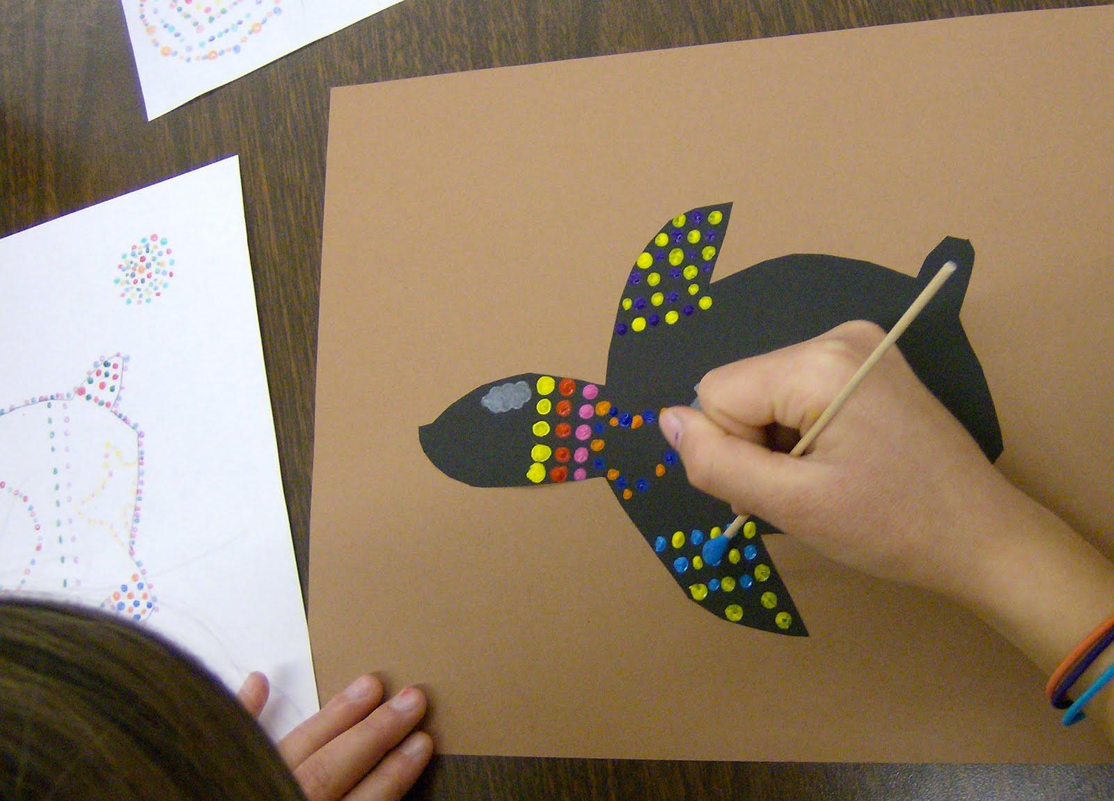 Zilker elementary art class 4th grade aboriginal dot paintings 4th grade aboriginal dot paintings maxwellsz