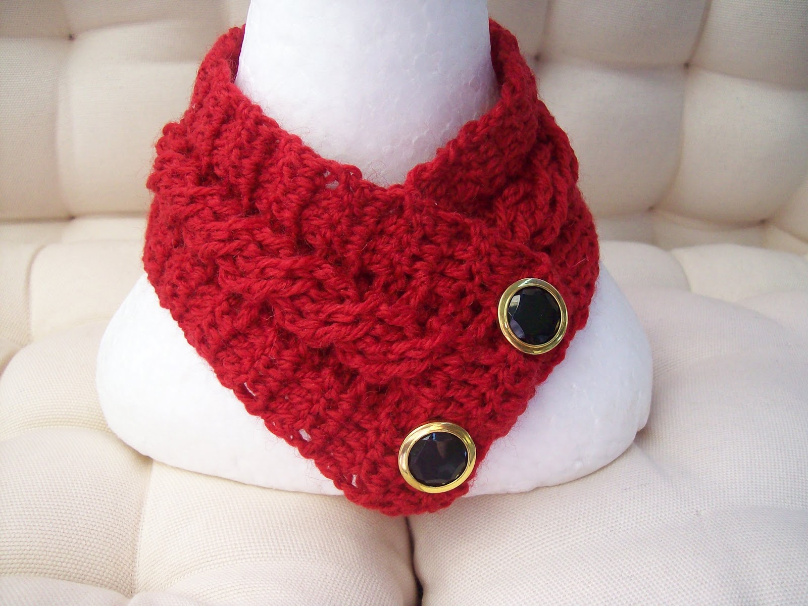 Cats Rockin Crochet Fibre Artist Cable Stitch Neck Warmer