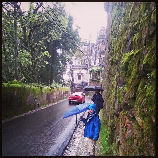 Road to Quinta da Regaleira Sintra Portugal