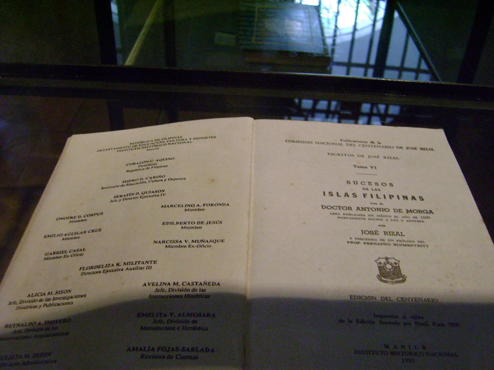 morga s sucesos de las islas filipinas Pagsusuri sa mga anotasyon ni jose rizal sa sucesos de las islas filipinas ni antonio de morga a ang sucesose de las islas filipinas at si antonio de morga.