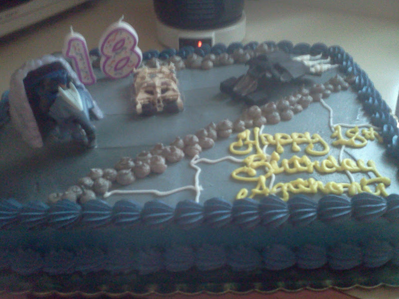 GeekLife Birthday Haul And Other Updates - Dark knight birthday cake