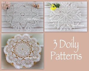 3 Pineapple Doily Patterns, $8.99