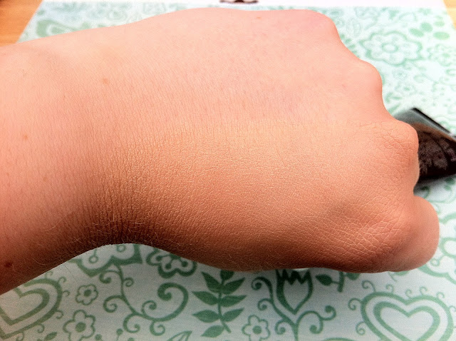 MUA BB cream shade medium blended into the back of my hand