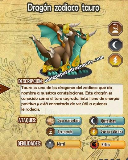 imagen de las caracteristicas del dragon zodiaco tauro