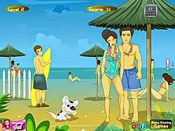 Hôn nhau ở bãi biển Hawai, game vui