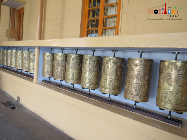 Prayer wheels at Namgyal Monastery
