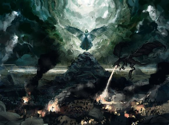 Anthony Wolff waart pinturas ilustrações digitais fantasia ficção Rainha dos dragões