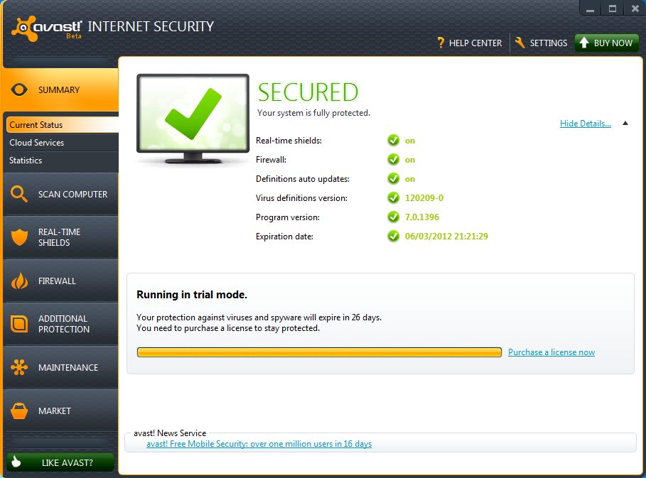 Avast internet security 7 0 1426 till 2050 incl crack only by the rain torrent