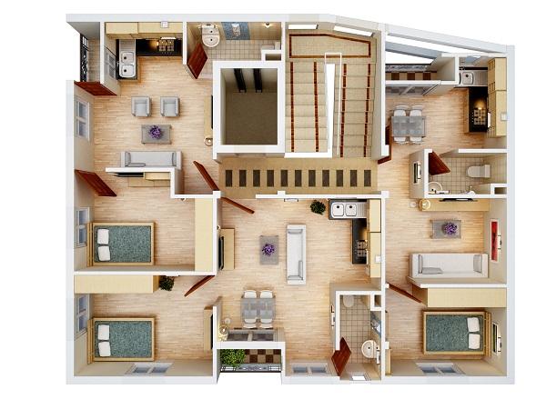 Mặt bằng căn hộ chung cư Nhật Tảo Thang Máy Từ Liêm giá rẻ
