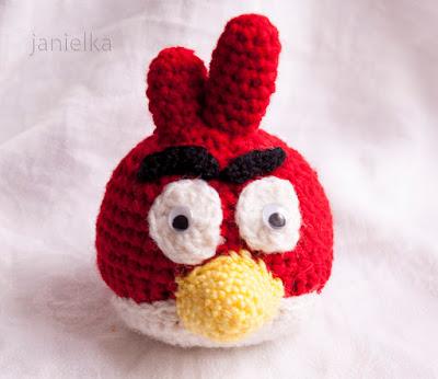 Kolejne maskotki na szydełku- Angry Birds