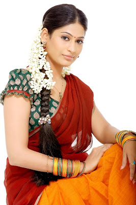 Tamil Actress VijayaLakshmi in Saree Photos