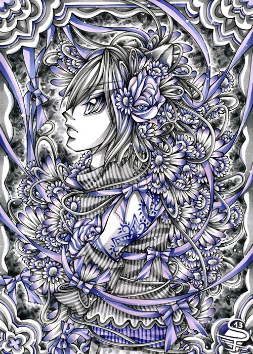 21-Harmonious-Violet-Sandra-Filipova-DarkSena-Manga-Black-and-White-and-Colour-Detailed-Drawings-www-designstack-co