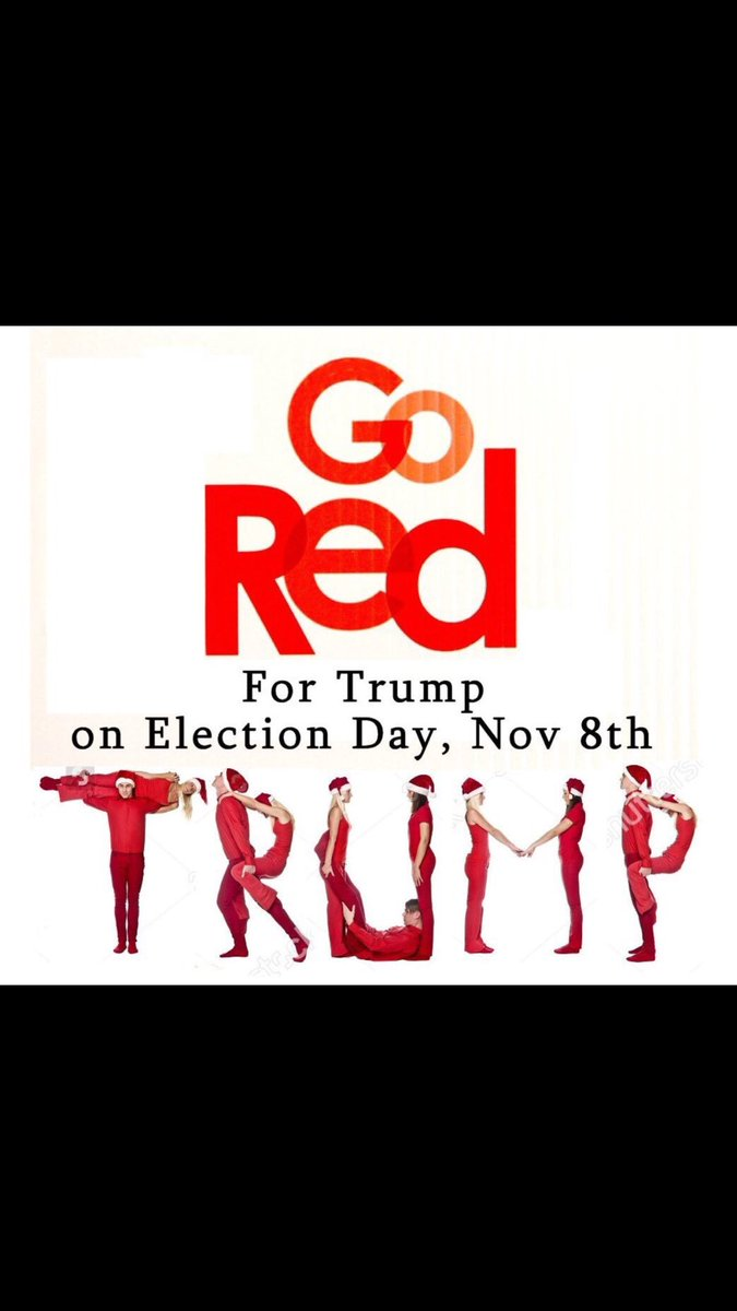 VOTE FOR TRUMP AND WEAR RED