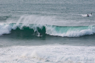 Big wave surfing Cornwall