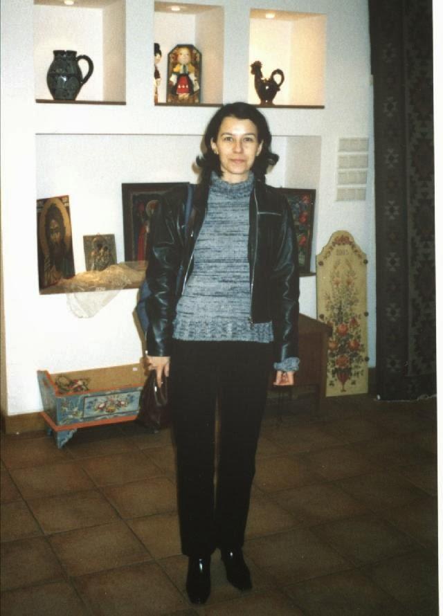 Olivia Maria Marcov, decembrie 2003, Bucuresti, Muzeul Taranului Roman