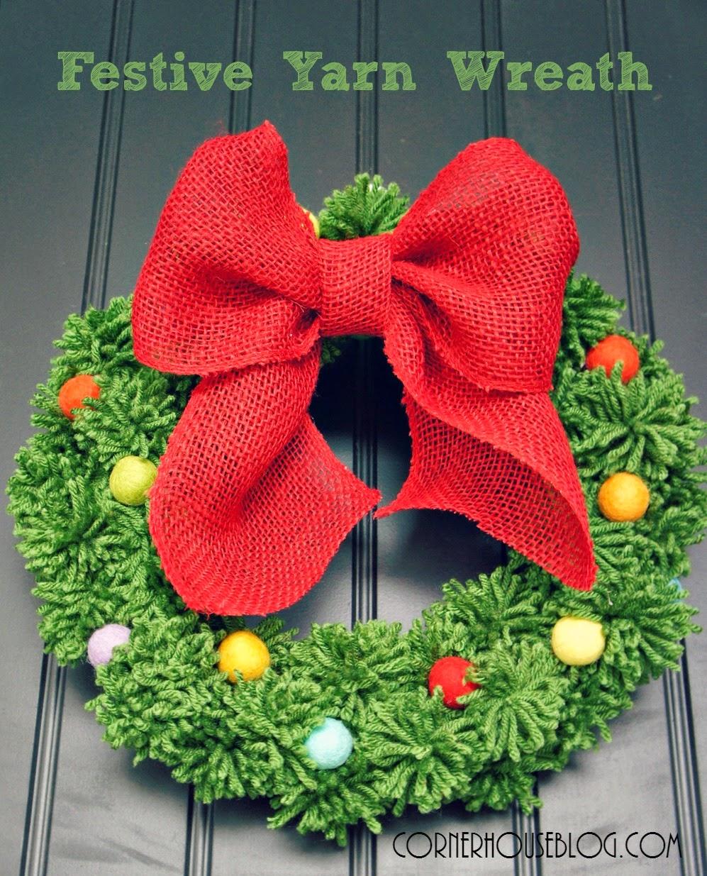 Festive Yarn Wreath