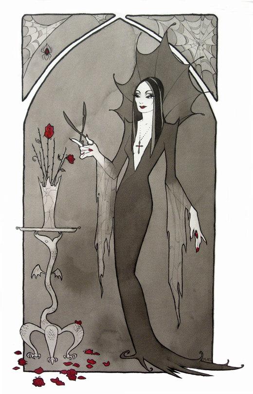 Morticia Addams por miggetymary