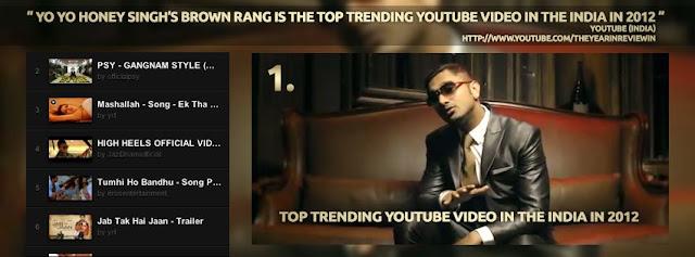 Honey Singh's Brown Rang Song Is On Top 10 In India
