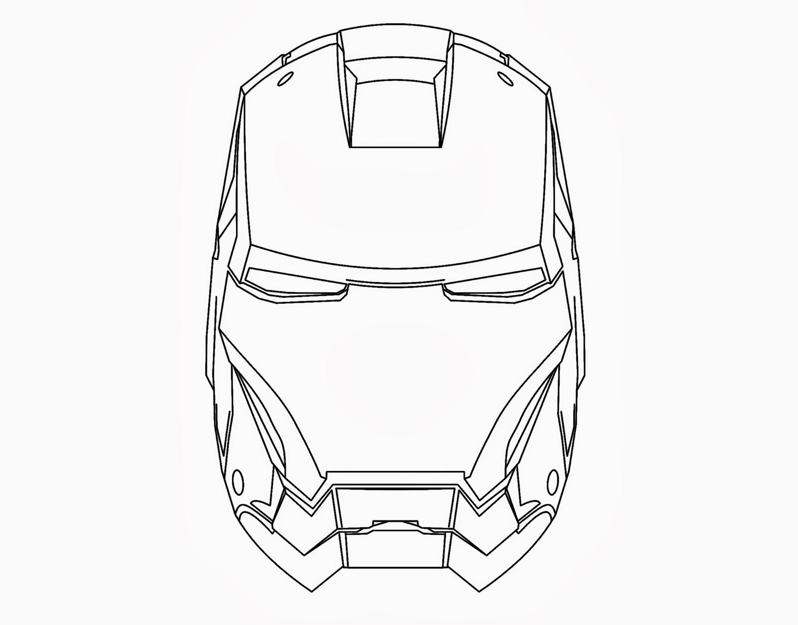 Dibujos de ironman para colorear dibujos para colorear de for Iron man face mask template