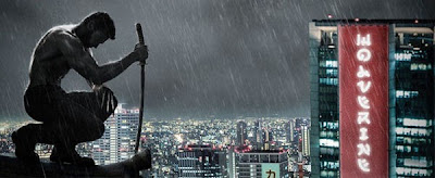Visuel de Wolverine sur un toit japonais, sabre à la main et griffes sorties