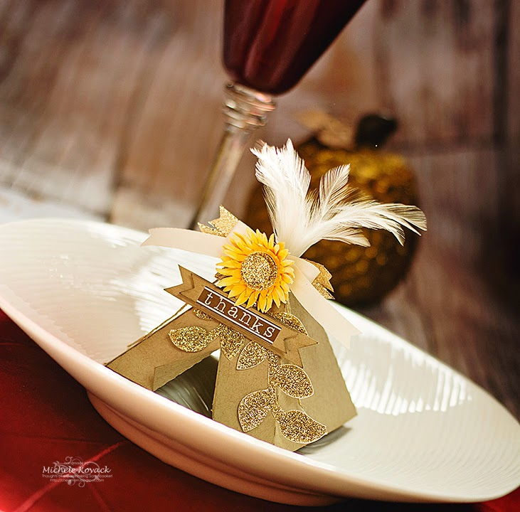 SRM Stickers Blog - Thanksgiving Teepee by Michele - #thanksgiving #homedecor #thanks #stickers #DIY