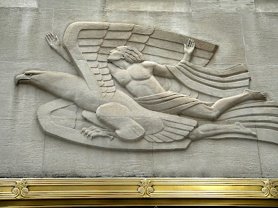 Bas-relief Morning, Present, Evening. Robert Garrison