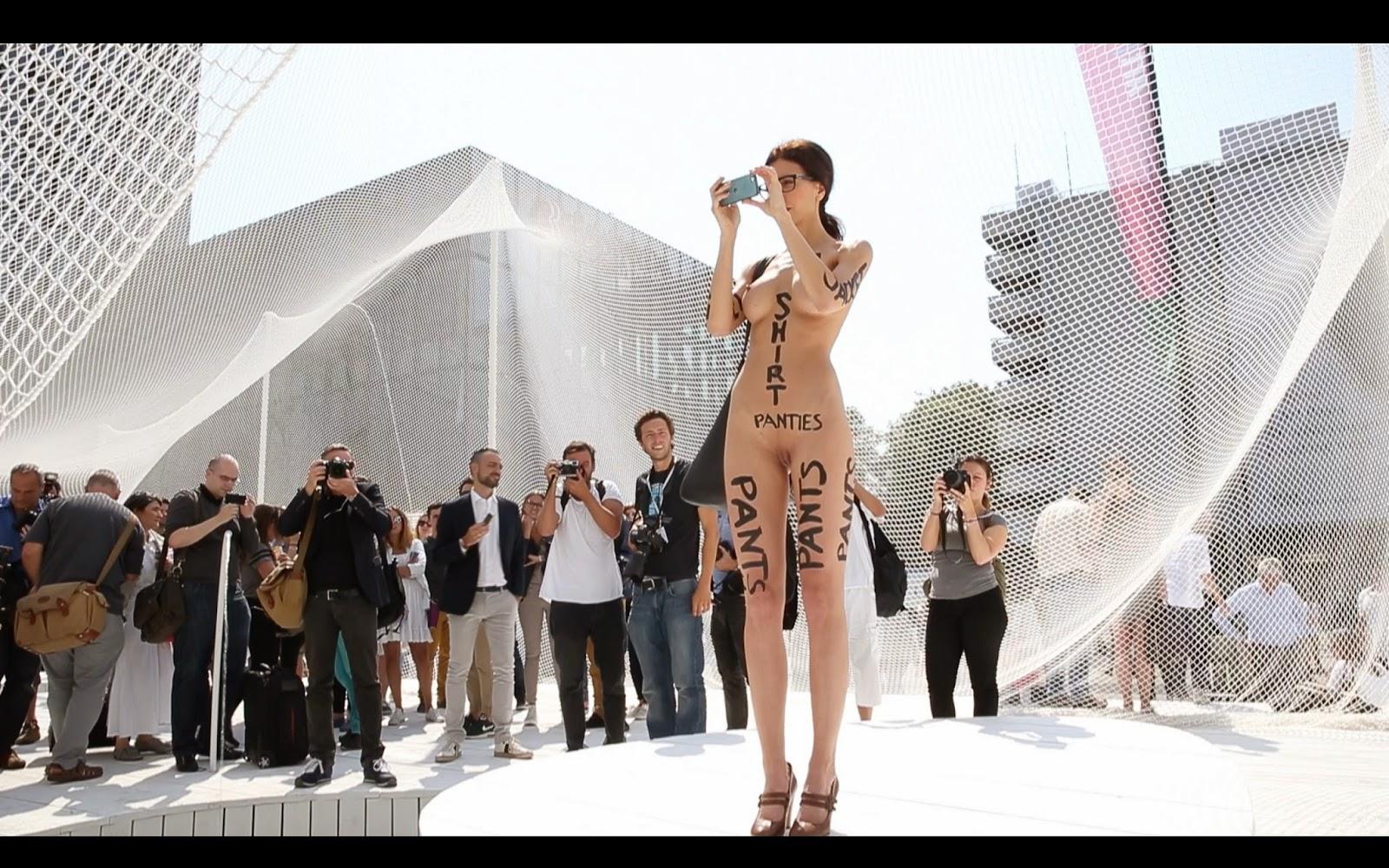 naked performance art