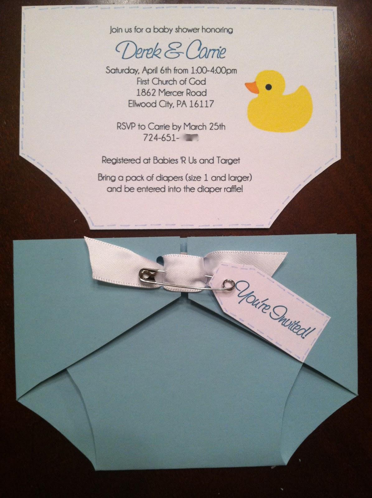 Renae Stamps Diaper Invitation – Diaper Invitation