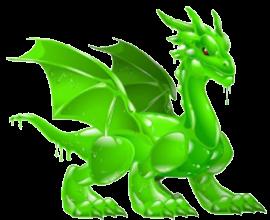 imagen del dragon fluido verde de dragon city